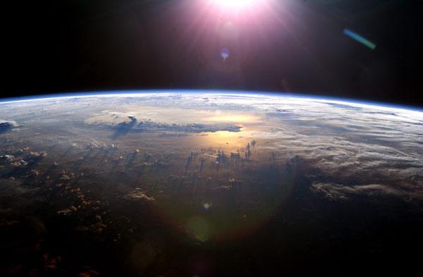 la tierra desde el espacio