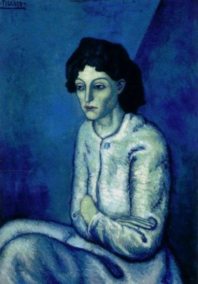 dama de azul