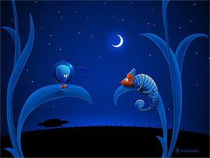 Vladstudio Alien And Chameleon 300X225